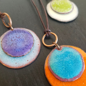 Layered Disc Necklace (Multiple Colorways) - Tina Tavolacci