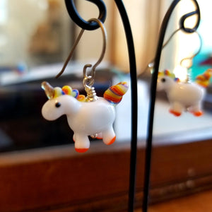 Rainbow Unicorn Earrings - Gina Edwards