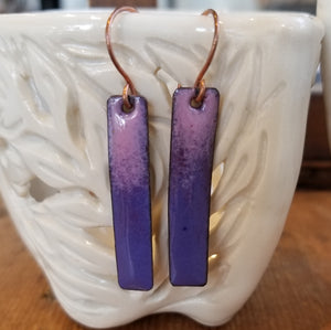 Shades of Purple Earrings - Tina Tavolacci