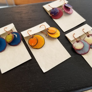Layered Disc Earrings (Multiple Colorways) - Tina Tavolacci
