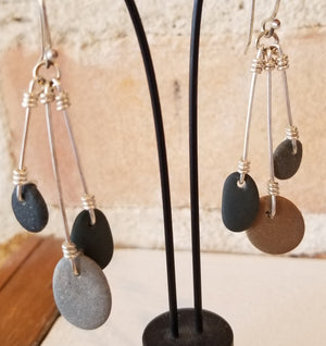 Tumbling Rock Earrings - Anna Strach