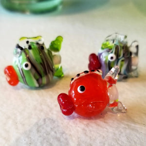 Flameworking Fish Beads: Student work