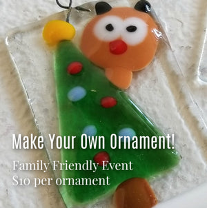 Fused Glass Ornament Workshop: Wednesday, December 11