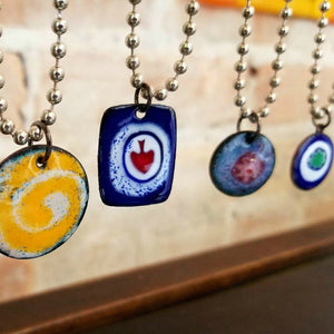 Enamel Necklaces Jackie Baker
