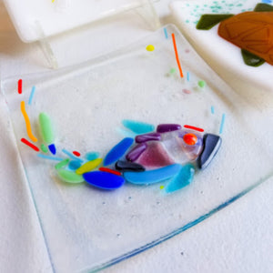 Fused glass sushi plate project