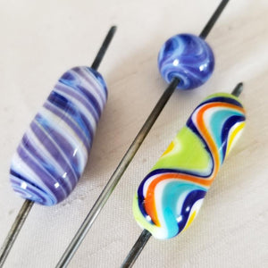 Go With The Flow lampworked glass beads