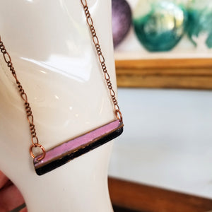 Shades of Purple Bar Necklace - Tina Tavolacci