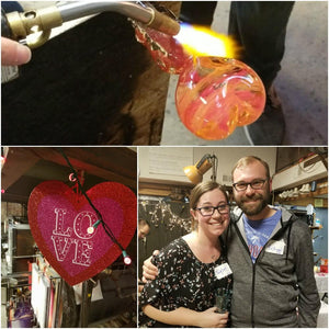 Valentine Date Night: Glass Heart Paperweight Experience