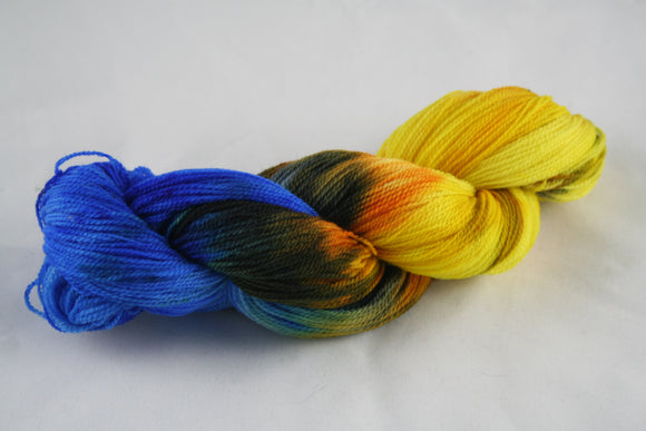 100% Rambouillet 'Campfire Night' 50g Lace Weight Yarn