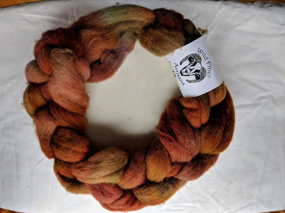 100% Wool 'Wagon Wheel' 4 oz Combed Top