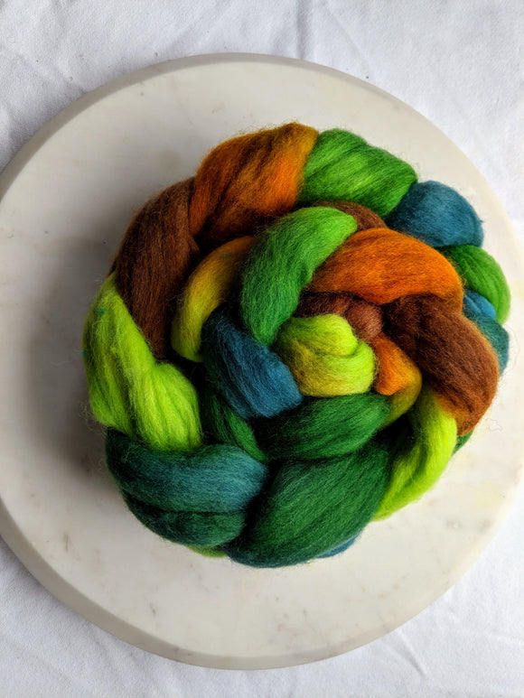 100% Merino 'Forest' 4 oz Combed Top