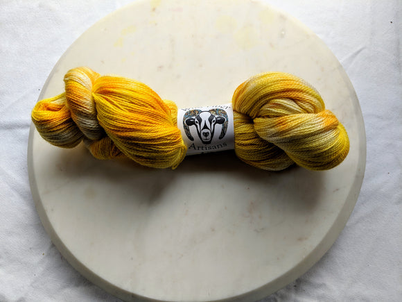 80/20 Merino & Silk 'Macaroni & Cheese' 100g Lace Weight Yarn
