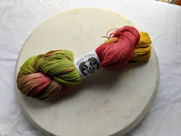 80/20 Merino & Silk 'Apples' 100g Lace Weight Yarn