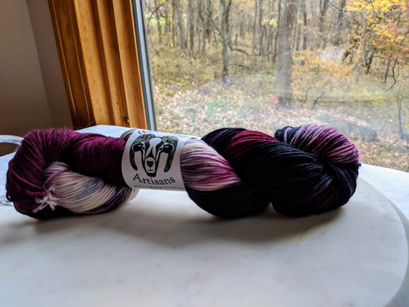 100% SW Merino 'Witches Brew' 100g Sport Weight Yarn