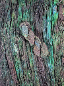"""Evergreen"" Blue Faced Leicester 100g Sock Weight Tweed Yarn"