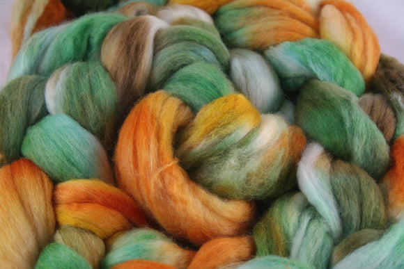 100% Merino 'Pumpkin' 4 oz Combed Top