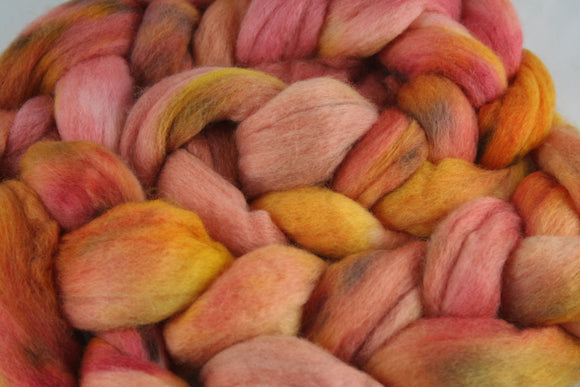 100% Merino 'Peach Sangia' 4 oz Combed Top