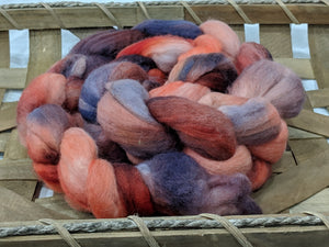 100% Merino 'Campfire' 4.2 oz Combed Top