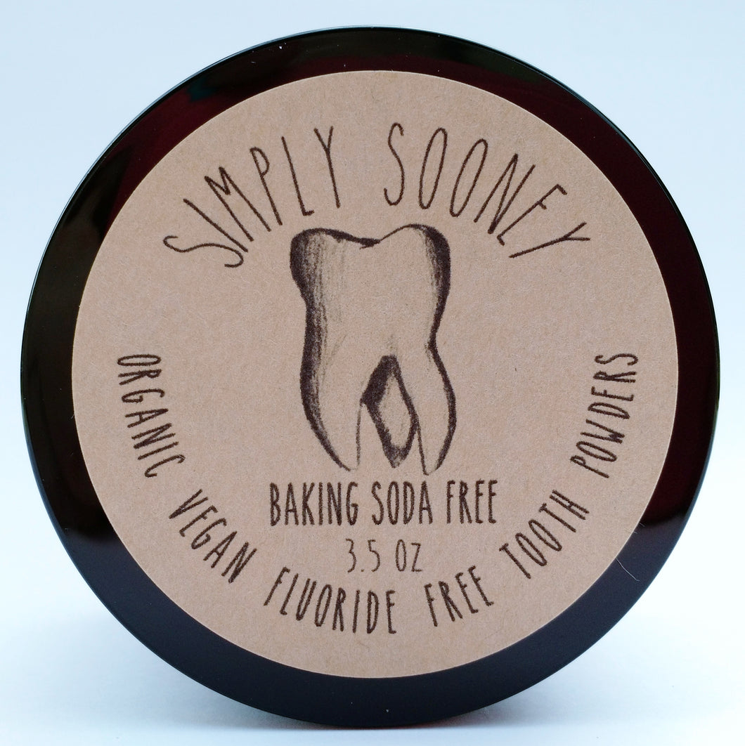 VALUE SIZE 6 MONTH SUPPLY Organic Vegan Fluoride Free Tooth Powder Baking Soda Free Formula FREE SHIPPING