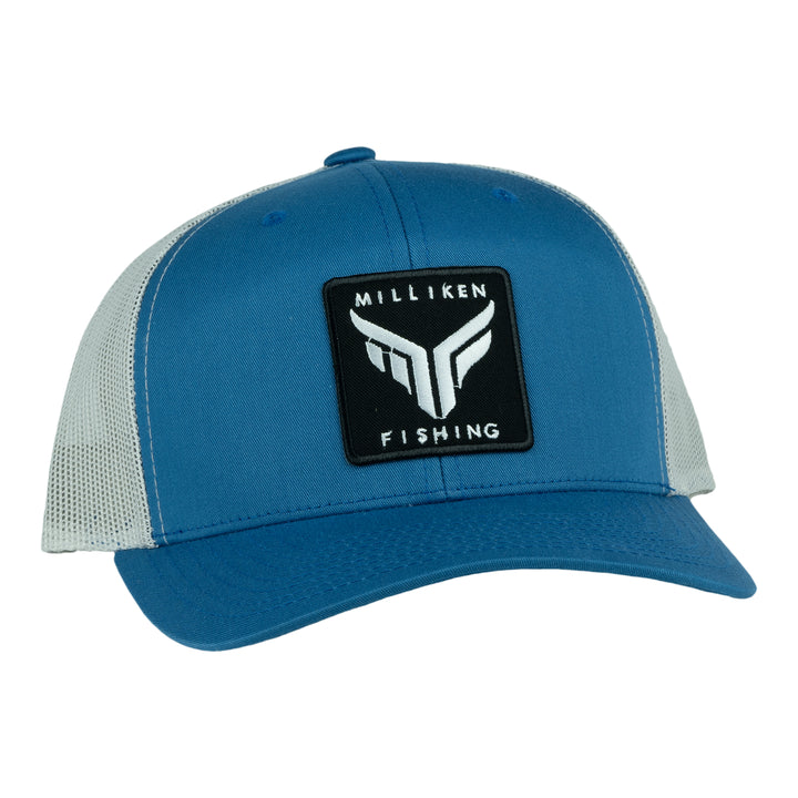 Milliken Fishing Blue Semi-Curved Bill
