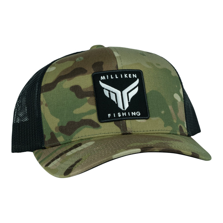 Milliken Fishing Multi-Camo Semi-Curved Bill