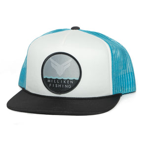 MF Foam Trucker Semi-Curved Bill (White/Blue/Black)