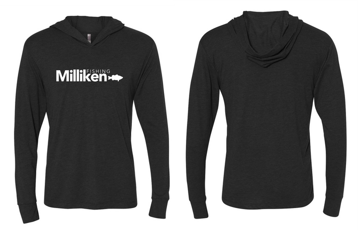 Milliken Fishing L/S Hooded Sunshirt - Vintage Black