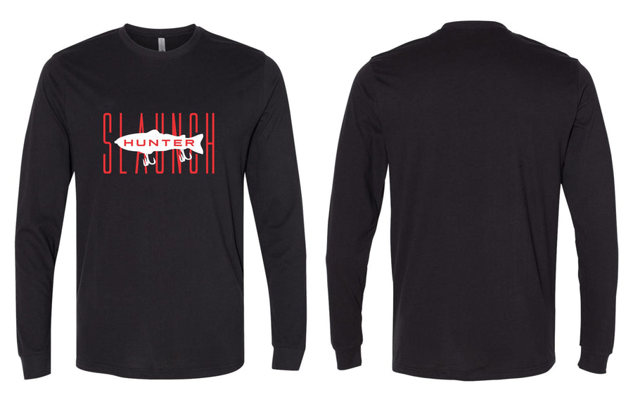 Slaunch Hunter Red L/S Tee - Black