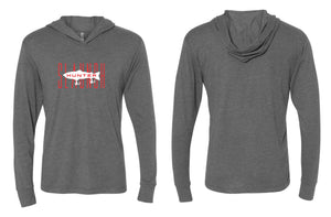 Slaunch Hunter Red L/S Hooded Sunshirt - Heather Gray