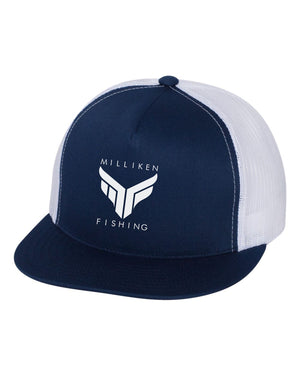 Navy/White Milliken Fishing Trucker Hat