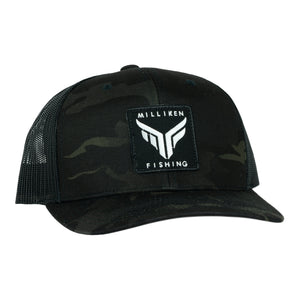 Milliken Fishing Midnight Camo Semi-Curved Bill
