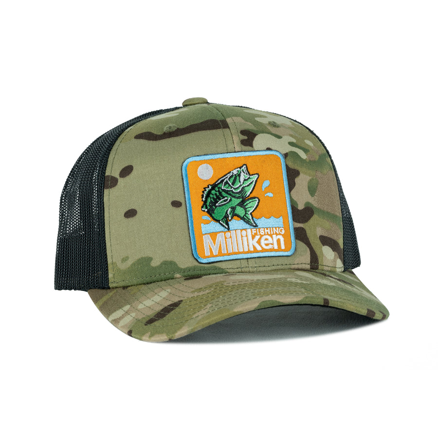 Retro Bass Camo -MC Green/Black