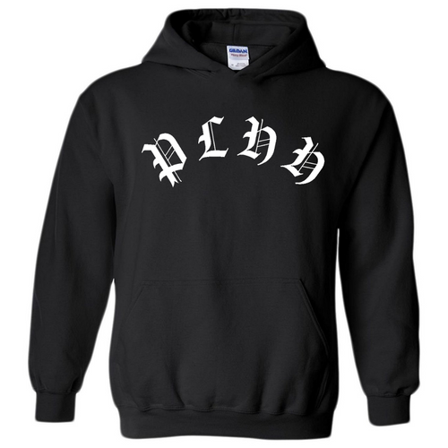 PLHH Old English Black Hoodie