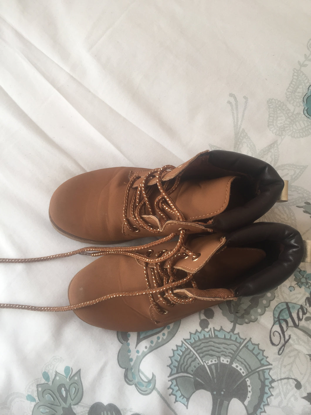 Girl's brown ankle boots-boots-Elinye_ithuba