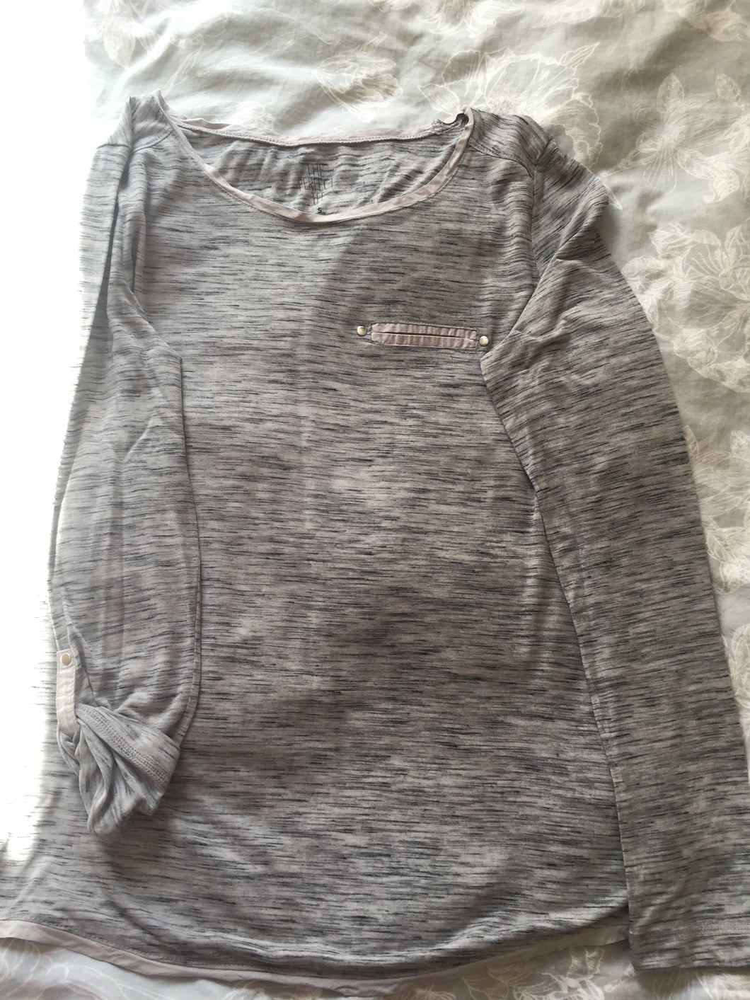 Grey long sleeve ladies T-shirt-t-shirts-Elinye_ithuba