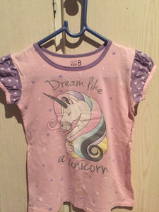 Girl's pink and purple unicorn pyjama top-pyjamas-Elinye_ithuba