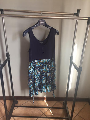 Short floral, navy ladies dress-Elinye_ithuba