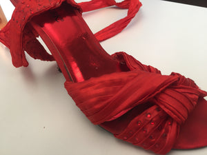 Red lace up heels with diamante detail on straps-heels-Elinye_ithuba