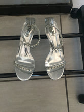 Load image into Gallery viewer, silver grey heels with diamante-heels-Elinye_ithuba