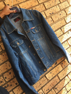 ***Brand New*** Oversized blue ladies denim jacket-jackets-Elinye_ithuba