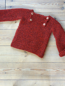 Luik sweater - 116/128 - burnt red