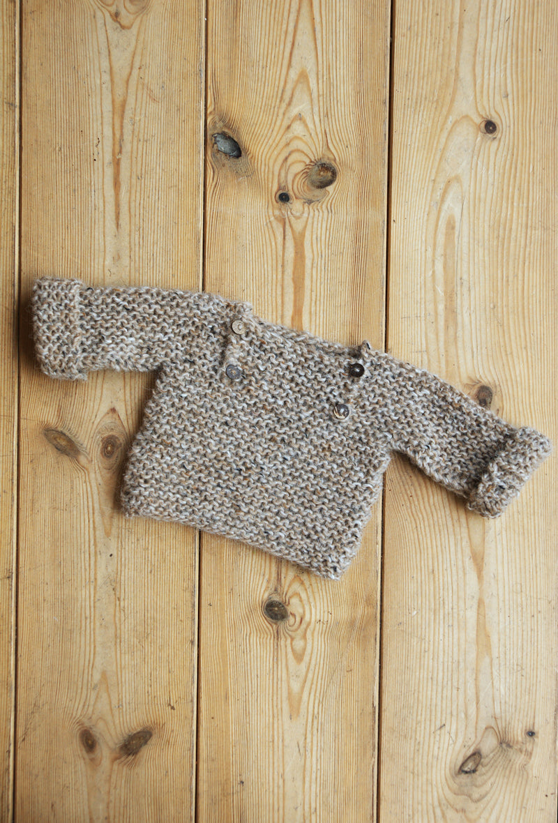 Luik sweater - 62/68 - beige tweed