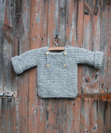 Luik sweater - 74/86 - ash gray