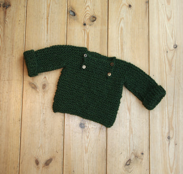 Luik sweater - 80/86 - garden green