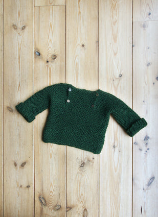 Luik sweater - 86/92 - garden green