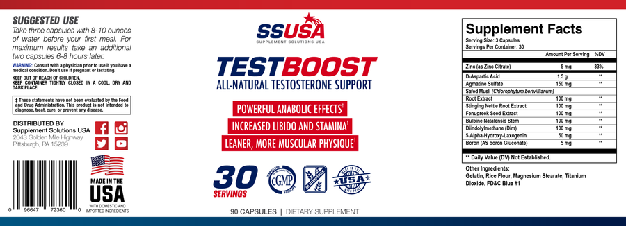 Natural Test Boost