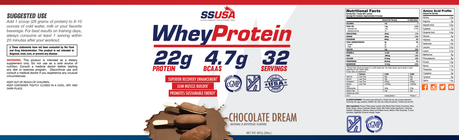 Whey Protein Chocolate 2lb