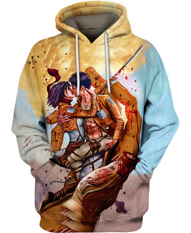 Kiss Of The Titans-Attack on Titan-Hoodie-VIO STORE