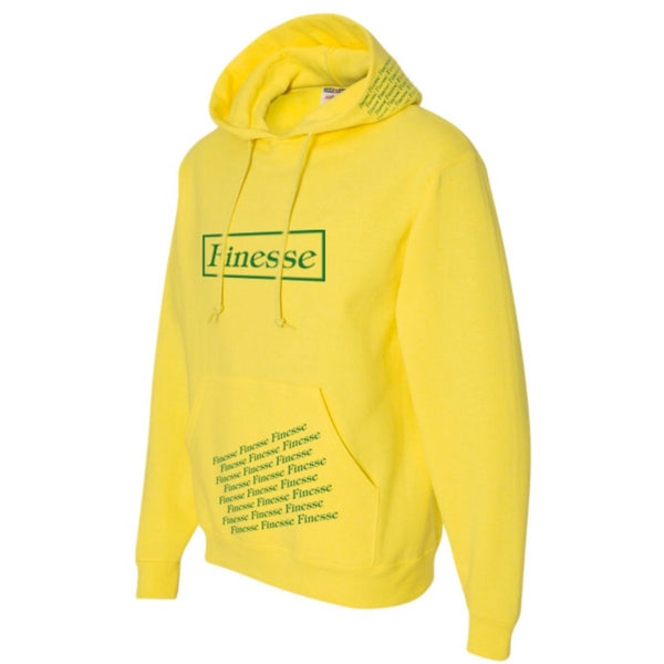 YELLOW HOODED SWEATSHIRT- YELLOW