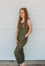 Load image into Gallery viewer, Olive Green Jumpsuit- Lovelies